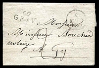 "Lot 22298:Gray: '69/GRAY' on outer, addressed to ""... notaire A Pay""."