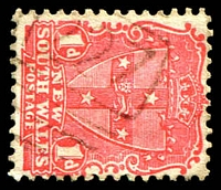 Lot 6129:1227: '1227' on 1d Arms. [Rated R]  Allocated to Eastwood-PO 1/11/1883.