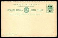 Lot 4144:1900 VRI Overprint HG #25 ½d+½d on ½d+½d green.