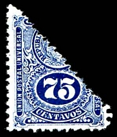 Lot 26689:1911 Bisect SG #217 of 75c blue.