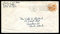 Lot 4768:1948 use of 5c on 6c Envelope from Navy Po 138 (St Georges, Bermuda) to Rhode Island.