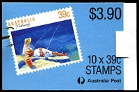 Lot 3725:1989 $3.90 Fishing BW #B163 CPL paper P14x14.4, Cat $12, full perfs on left side.