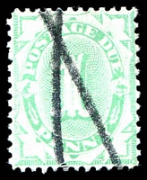 Lot 3430:1902-04 Design Completed Wmk Crown/NSW 1d Emerald, P11½-12x11, BW #D21 mss cancel.