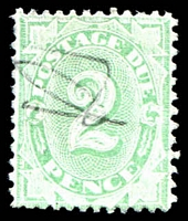 Lot 3431:1902-04 Design Completed Wmk Crown/NSW 2d emerald P11½-12x11, BW #D21 mss cancel.