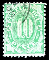 Lot 613:1902-04 Design Completed Wmk Crown/NSW BW #D41 10d emerald P11½-12x11, Cat $25.