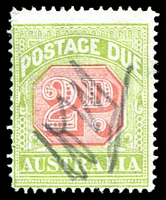 Lot 3465:1913-21 Wmk Crown/Double Lined A Thin Paper BW #D99A 2d scarlet & pale yellow-green, mss cancel.