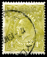 Lot 554:4d Olive - [3R1] Small projection on base of G and D in RVT etc