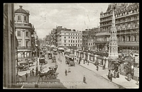Lot 3756 [2 of 2]:1915 use of OAS stampless London Stereoscopic Company PPC of 'LONDON.-THE STRAND AND CHARING CROSS', cancelled with 'POSTES MILITAIRES/BELGIQUE/26/II/15/8 BELGIE 8/LEGERPOSTERIJ