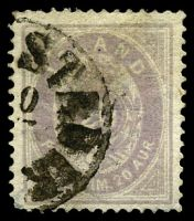 Lot 3637:1876-85 New Currency SG #15 10a pale lilac (blurred printing), Cat £275, short cnr perf.