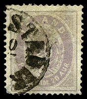 Lot 21303:1876-85 New Currency SG #15 10a pale lilac (blurred printing), Cat £275, short cnr perf.
