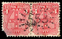 Lot 5980:553: Rays on 1d Arms pair.  Allocated to Dight's Forest-PO 1/1/1870; renamed Jindera PO 1/6/1885.