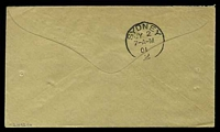 Lot 886 [2 of 2]:1901: use of stampless envelope, cancelled with light double-circle 'FIELD POST OFFICE/16/MY24/01/BRITISH ARMY S.AFRICA' (A1-) of Klerksdorp, to New South Wales, backstamped with 'SYDNEY/JY2/7-A-M/01/2' (A1), couple of short closed tears & 2 pinholes.