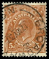 Lot 720:5d Orange-Brown Die II - [3L17] Broken shading lines around TRC leaf etc