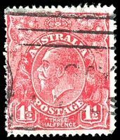 Lot 692:1½d Red Die II - BW #91(4)h Dot before THREE (4R24), Cat $10.