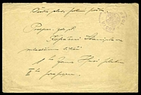 Lot 3497:1919(C.) use of large stampless envelope, cancelled with '3 POLNI POSTA 3/CESKO-/SLOVENSKE/VOJSKO/NA RUSI/[posthorn]/POSTE/MILITAIR
