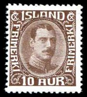 Lot 3773:1931-37 Christian X SG #187 10a brown, Cat £140, hinge fragment.