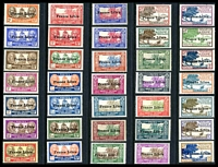 Lot 4426:1941 'France Libre' Opts SG #232-66 complete set of 35, Cat £500, odd stamp has minor gum disturbances.