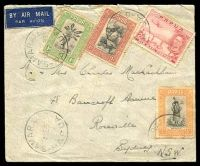 Lot 24313:1939 use of Pictorials ½d, 1d, & 1½d plus 2d Air on air cover to Sydney, cancelled with 'SAMARAI/14DE39/PAPUA' (B1), some toning around perfs.