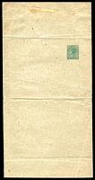 Lot 1594:1889 No Headings HG #E4 1d green on light buff.