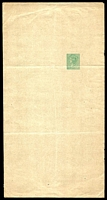 Lot 8113:1889 No Headings HG #E4 1d green on light buff.
