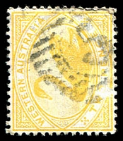Lot 18740:5: on 1898 2d yellow.  Allocated to Gascoyne-PO c.-/1/1882; renamed Carnarvon PO 15/8/1884.