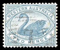 Lot 18741:7: on 1890 2d grey.  Allocated to Northam-PO 23/4/1847.
