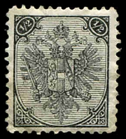 Lot 3548:1895-1900 Numerals At Top Typo Perf 11½ SG #106 ½k grey, Cat £28, toned gum.