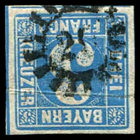 Lot 3479:20: of Bamberg/Arnstein on 3k blue.