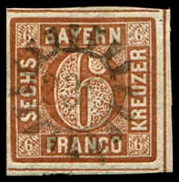 Lot 3754:230: light strike of Neumarkt a. R/Ipsheim on 6k brown.