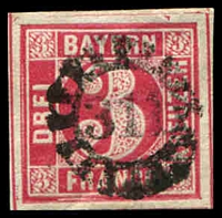 Lot 3480:311: of Schabach/Memmingen on 3k rose.