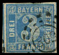 Lot 3482:508: of Falkenstein/Straubing on 3k blue (thinned).