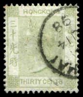 Lot 3752:1882-96 Wmk Crown/CA SG #39 30c yellowish green, Cat £42.