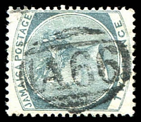 Lot 24948:A66: of Port Maria on 1885 2d grey. [Rated 60 by Proud]