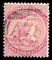 Lot 24950:A76: of Spanish Town on 1884 1d rose.