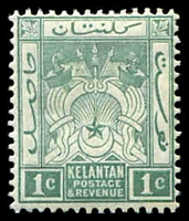 Lot 21792:1921-28 Wmk Script CA SG #14 1c dull green.