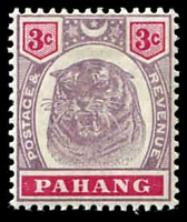 Lot 3933:1895-99 Tiger's Face SG #14 3c dull purple & carmine.