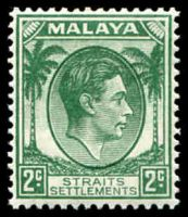 Lot 3818:1937-41 KGVI Die I SG #279 2c green, Cat £19.