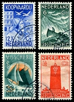 Lot 4382:1933 Seamen's Charity SG #413-6 set of 4, Cat £21.