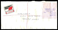 Lot 6266 [2 of 2]:Parramatta: - '* TELLER */No. 12/6JUL1988/PARRAMATTA/N.S.W./2110' backstamp on Security Post cover to Sydney with $5.93 Cash Register receipt.  PO 1/3/1828.
