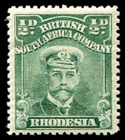 Lot 4512:1913-22 Admirals Single Plate Perf 14 SG #186 ½d blue-green Plate II unshaded ear.