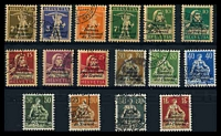 Lot 28516:1923-43 'S.D.N...' Issues SG #LB1-23 selection of all-different values from 2½c to 1Fr. (16)