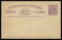 Lot 846:1923-24 1d Violet KGV Sideface BW #P56(2) on buff, Cat $50, unused.