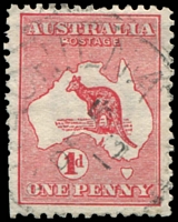 Lot 92:1d Red Die I BW #2(B)d [BL1] ROSTAGE, Cat $30, a few trimmed perfs at left.
