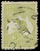 Lot 115:3d Olive Die I - BW #13(2)ha Deformed coast in Bight - State II, Cat $250, slightly rounded BRC and rough perfs.