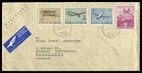 Lot 3686:1982 philatelic use of 1968 Airmail Set and 20s Melk Abbey on air cover to Melbourne.