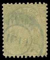 Lot 4046:Navua: light double-circle 'PO[ST OFFICE]/FIJI/NAVUA' on 2d dull green pirogue. [Rated 360 by Proud]  PO c.1871.
