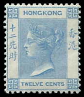Lot 3853:1900-01 New Colours SG #60 12c blue, Cat £48, minor gum bend.