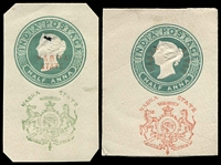Lot 3810 [2 of 2]:cut-outs of H&G #B1, B3 (arms in 2 shades, yellow-green & grey-green), B4, B5 & B6. (6)