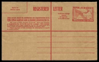 Lot 4313:1959 1/7d Red on Brown Kraft Paper BW #PNG3