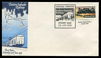 Lot 1088:1979 Official Opening Eastern Suburbs Railway Sydney illustrated cover with adhesive tied by commemorative cancel 23 JUN 1979, unaddressed, 'MARTIN PLACE STATION/SYDNEY NSW' handstamp below stamp.